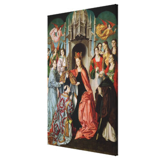 Presentation of the Chasuble to St. Ildefonso Canvas Print