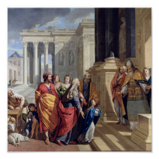 Presentation of the Virgin in the Temple Poster