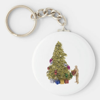 PresentChristmasTree120409 copy Basic Round Button Key Ring