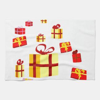 Presents and Bows Tea Towel