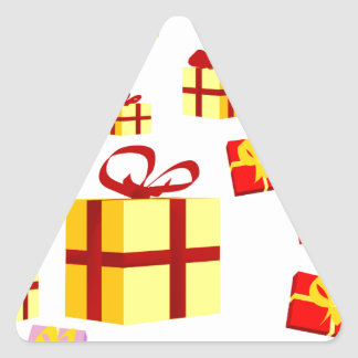 Presents and Bows Triangle Sticker