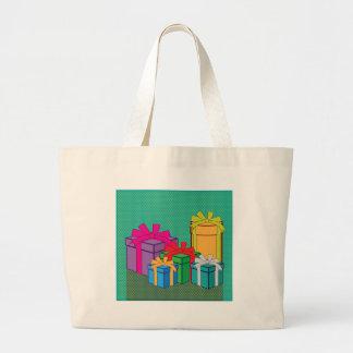 Presents color boxes vector jumbo tote bag
