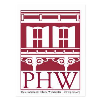 Preservation of Historic Winchester Logo Postcard
