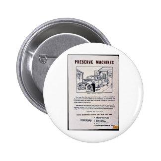 Preserve Machines 6 Cm Round Badge