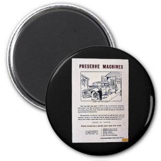 Preserve Machines 6 Cm Round Magnet