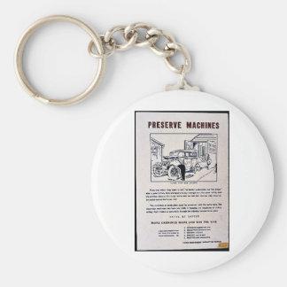 Preserve Machines Basic Round Button Key Ring