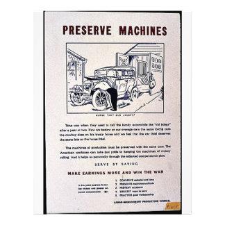 Preserve Machines Flyer Design