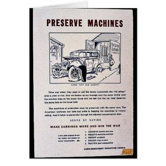Preserve Machines Greeting Card