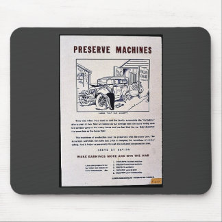 Preserve Machines Mouse Pad
