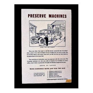 Preserve Machines Post Card