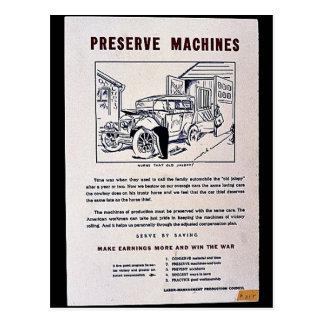 Preserve Machines Postcard