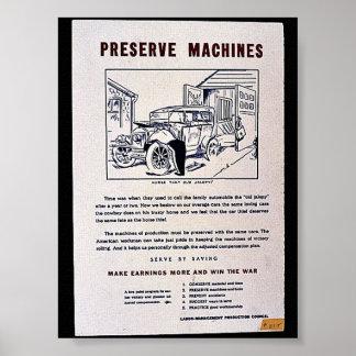 Preserve Machines Poster