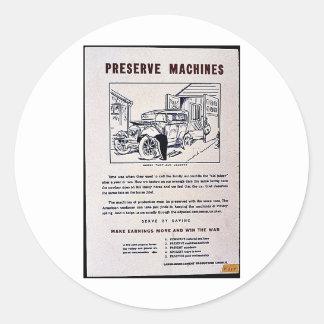 Preserve Machines Round Sticker