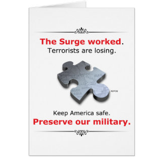 Preserve Our Military Greeting Card