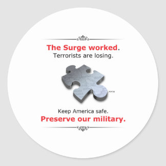 Preserve Our Military Round Sticker