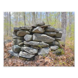 Preserve Sacred Stone Ruins Photographic Print