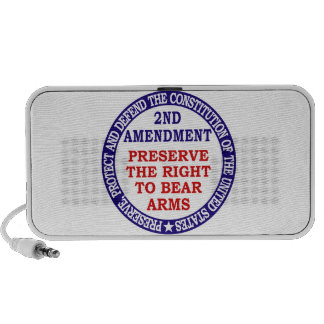 Preserve The Right to Bear Arms ( 2nd Amendment ) Notebook Speakers