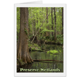 Preserve Wetlands Greeting Card