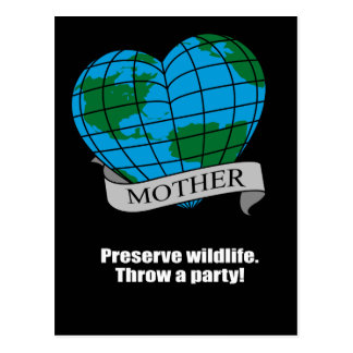 Preserve Wildlife Throw a party Postcards