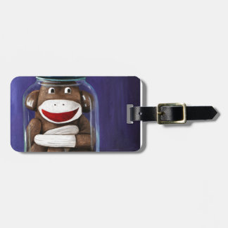 Preserving Childhood with Sock Monkey Luggage Tag