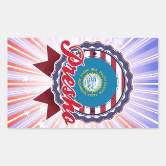 Presho, SD Rectangle Sticker