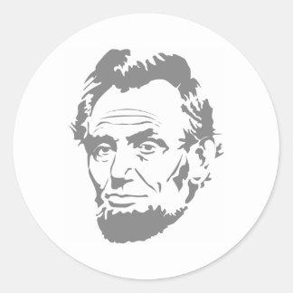 President Abe Lincoln Face Round Sticker