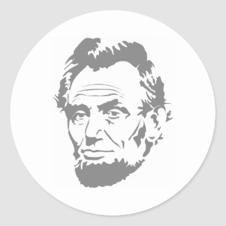President Abe Lincoln Face Round Sticker