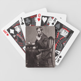 PRESIDENT ABRAHAM LINCOLN 1862 STEREOVIEW BICYCLE PLAYING CARDS