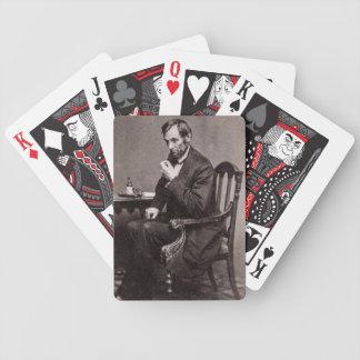 PRESIDENT ABRAHAM LINCOLN 1862 STEREOVIEW CARD DECKS