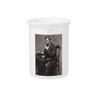 PRESIDENT ABRAHAM LINCOLN 1862 STEREOVIEW DRINK PITCHER