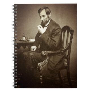 PRESIDENT ABRAHAM LINCOLN 1862 STEREOVIEW SPIRAL NOTE BOOK