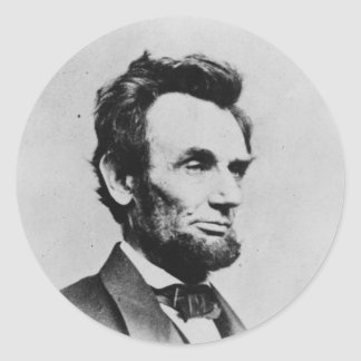 President Abraham Lincoln by Mathew B Brady Round Sticker