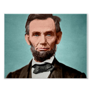 President Abraham Lincoln Colorized Poster