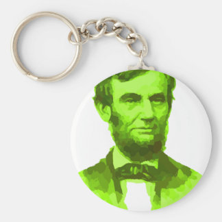 PRESIDENT ABRAHAM LINCOLN GREEN FACE PORTRAITGifts Key Chains