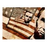 President Abraham Lincoln Patriotic Flag Postcards