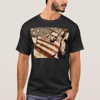 President Abraham Lincoln Patriotic Flag T-Shirt