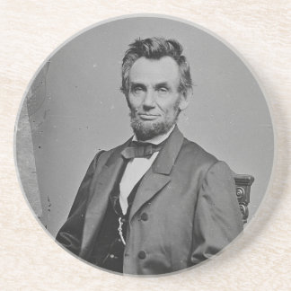 President Abraham Lincoln Portrait by Mathew Brady Drink Coaster