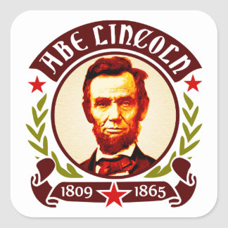 President Abraham Lincoln Portrait Square Sticker