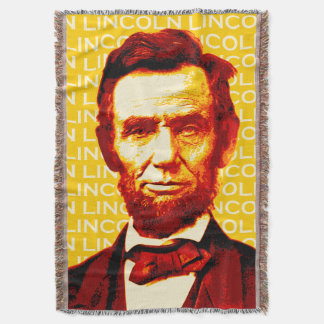 President Abraham Lincoln Portrait Throw Blanket