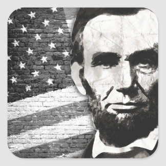 President Abraham Lincoln Square Stickers