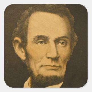 President Abraham Lincoln Vintage Engraving Square Sticker