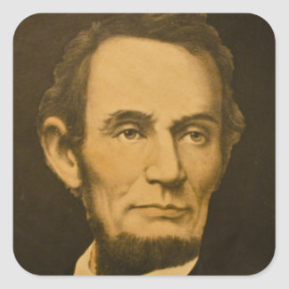President Abraham Lincoln Vintage Engraving Square Stickers