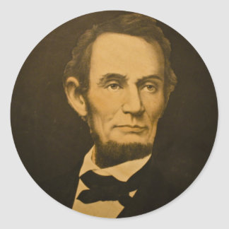 President Abraham Lincoln Vintage Engraving Stickers
