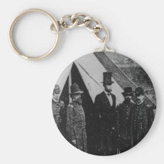 President Abraham Lincoln Visiting Antietam 1862 Basic Round Button Key Ring