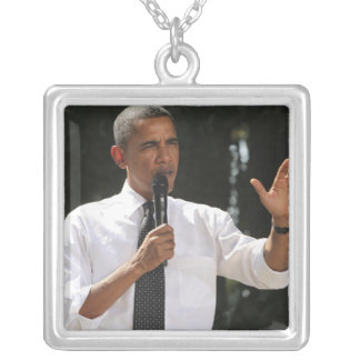 President Barack answers questions about the Square Pendant Necklace
