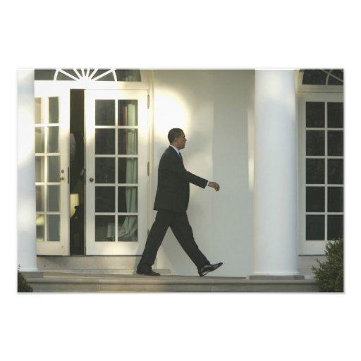 President Barack in deep thought as he walks Art Photo