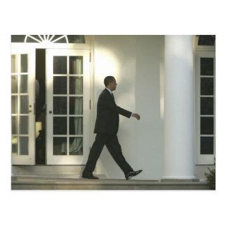 President Barack in deep thought as he walks Postcard