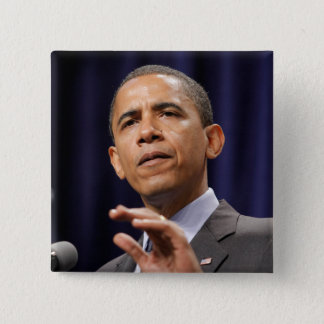President Barack Obama 15 Cm Square Badge