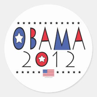 President Barack Obama 2012 Gear Round Stickers