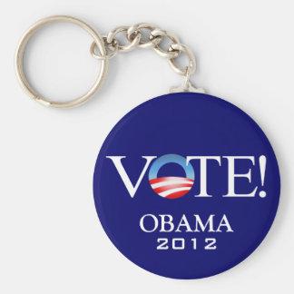 President Barack Obama 2012 Basic Round Button Key Ring